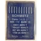 Schmetz Standard Sharp Point Lockstitch Industrial Sewing Machine/Longarm Needles (Size 18), Round Shank, Box of 100