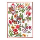 Duftin Lindner's Creativ-Set Cross Stitch/Embroidery Kit - 'Summer Time', 80x80cm, White