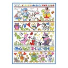 Duftin Lindner's Creativ-Set Cross Stitch/Embroidery Kit - 'Kid's World', 80x80cm, White