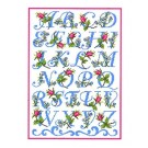 Duftin Lindner's Creativ-Set Cross Stitch/Embroidery Kit - 'Rose Alphabet', 80x80cm, White