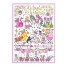 Duftin Lindner's Creativ-Set Cross Stitch/Embroidery Kit - 'Birthday Girl', 80x80cm, White
