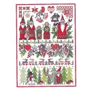 Duftin Lindner's Creativ-Set Cross Stitch/Embroidery Kit - 'Christmas World', 80x80cm, White