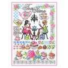 Duftin Lindner's Creativ-Set Cross Stitch/Embroidery Kit - 'Tea Time', 80x80cm, White