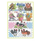 Duftin Lindner's Creativ-Set Cross Stitch/Embroidery Kit - 'Springtime', 80x80cm, White