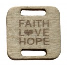 Square Birch Wood Knitting/Crochet Tag - Faith Love Hope, 25pc.