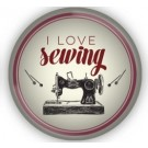 Sewing Themed Glass Magnet - I Love Sewing - Pre-order for a late August 2018 delivery!