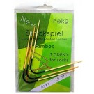 Neko Bamboo Curved Double Pointed Needles For Socks, 2mm, Size 0, Black