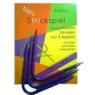 Neko - Curved Double Pointed Needles for Hats & Loops, Plastic, 9mm, Purple
