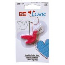 Prym Love Birdy Needle Threader, Pink