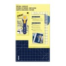 OLFA Quilting/Sewing Kit (Includes 45mm Navy Splash Cutter, 6x12 Ruler & 12x18 Navy Self-Healing Rotary Mat)