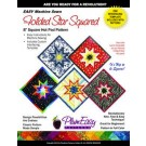 "Easy Machine Sewn 8"" SQUARE Folded Star Hot Pad Pattern with Template - PlumEasy"