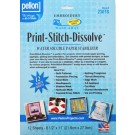 "Print-Stitch-Dissolve WASH-AWAY Embroidery Stabilizer, White, 100% Cellulose Mixture Paper Wooden Pulp , 8.5"" x 11"" Sheets, 12 pieces"