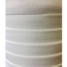 Elastic in White, 6mm X 275M (Knitted Polyester)