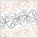 "Let It Snow Petite Pantograph Pattern, 6.5"" Wide x 144"" Long (Single Row)"