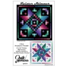 Quilt Moments Twister Shimmer Pattern (4 Sizes Included - Miniature to King)
