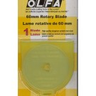 Olfa Replacement Blades For RTY3/G 60mm, 1 Count