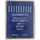 Schmetz Standard Sharp Point Walking Foot (Compound Feed) Industrial Sewing Machine Needles (Size 14), Round Shank, Box Of 100 Needles