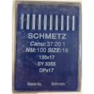 Schmetz Standard Sharp Point Walking Foot (Compound Feed) Industrial Sewing Machine Needles (Size 16), Round Shank, Box Of 100 Needles