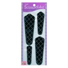 Scissor Fobz Scissor Sheaths - 4/pk, Black Silver Dotted Diamonds Design