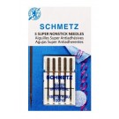 Schmetz Super Non-Stick Needles, 5 Count, Size 100