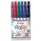 Pilot Frixion Erasable Felt-Tip Markers, 2.5mm, 6 Piece Set