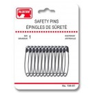 Safety Pins - Size 1 - 12 Count