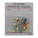 Pins Asst Color Head 27mm, 4.6 Grams