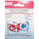 Stitch Count Markers 15Pc Split Lock, 2 Sizes