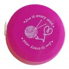 """Knitting Themed """"Love In Every Stitch"""" Tape Measure, Assorted Colours (Inches & Centimeters)"""