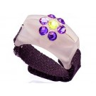 Custom Bedazzled Thread Cutterz Ring in Glow In The Dark/Purple Swarovski Crystal Flower (Limited Edition) - 30% OFF!