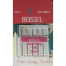 Beissel Sz 100 Top Stitch Machine Needles, Size 16, 5 Count
