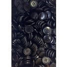 Countess Bulk Men's Suit Buttons, 4-Hole, 20mm, Black