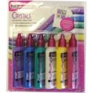 Tulip Dimensional Fabric Paint, Value Packs - Crystals Fabric Paint,  37 ml each bottle, 6 bottles