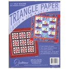 "Triangle Paper, 1.25"" Half Square, 840 finished squares"