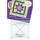 "Quilt in a Day - 4"" Trimmed Star Ruler,  Includes FREE Star Wallhanging Pattern"