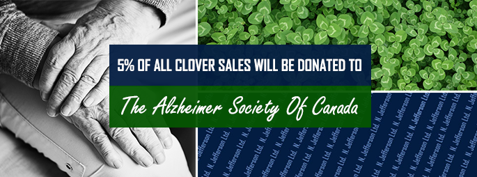 5% Of All Clover Sales Go To The Alzheimer Society Of Canada
