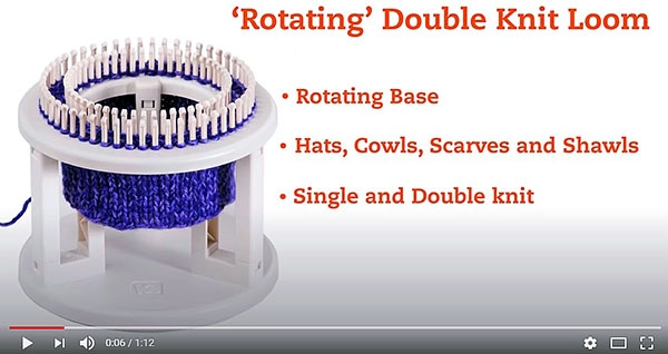 KB8300 - ''Rotating' Double Knit Loom: Create Double Knit & Single Knit 'In The Round'