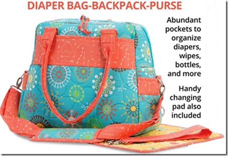 Every Day Every Way: Diaper Bag-Backpack-Purse Pattern (ByAnnie.com)