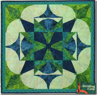 Kings Courtyard Pattern by Phillips Fiber Art using 22.5 Squedge Tool