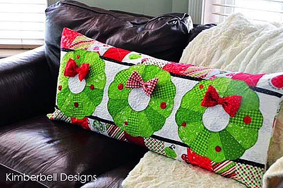 KD182 - Deck The Halls! - Christmas Bench Pillow (Pre-Order For AMid-November Delivery)