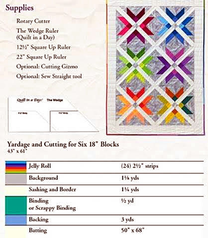 01214 - Mexican Star Quilt Pattern by Quilt in a Day
