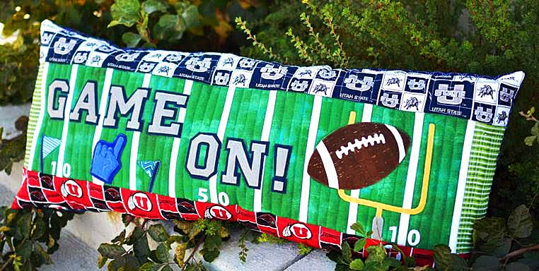KD188 - Game On! Football - Bench Pillow(Pre-Order For AMid-November Delivery)
