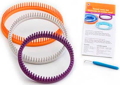 KB8100 - 'Premium' Round Loom Set, Includes 3 Looms, Instructions & 4 Projects
