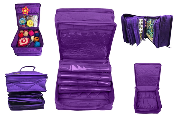 CA16-PURPLE-YAZZII-BAGS-THE-DELUXE-DOUBLE-ORGANIZER