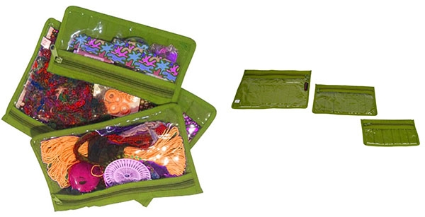 CA510-GREEN-YAZZII-BAGS-NOTIONS-3PC-POUCH-SET